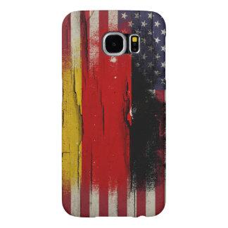 Bandera americana alemana de la pintura el | del fundas samsung galaxy s6