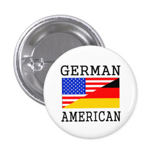 Bandera americana alemana pin redondo 2,5 cm