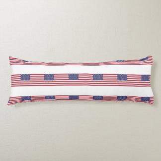 Bandera americana almohada larga