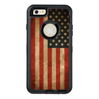 Bandera americana América del Grunge del vintage Funda OtterBox Defender Para iPhone 6 Plus