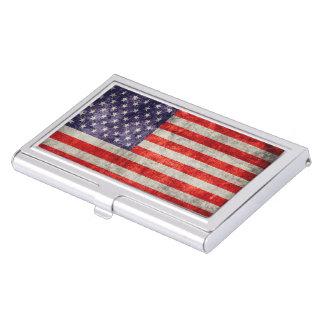 Bandera americana antigua de Falln Caja De Tarjetas De Presentación