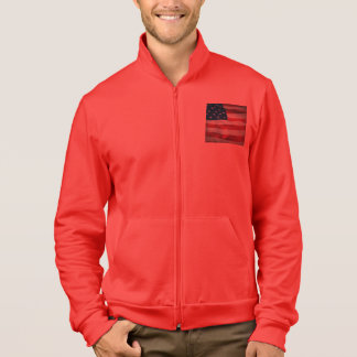 Bandera americana apenada chaqueta deportiva imprimida