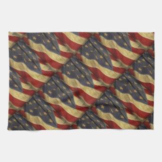 Bandera americana apenada toalla