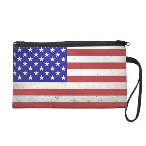 Bandera americana apenada patriótica
