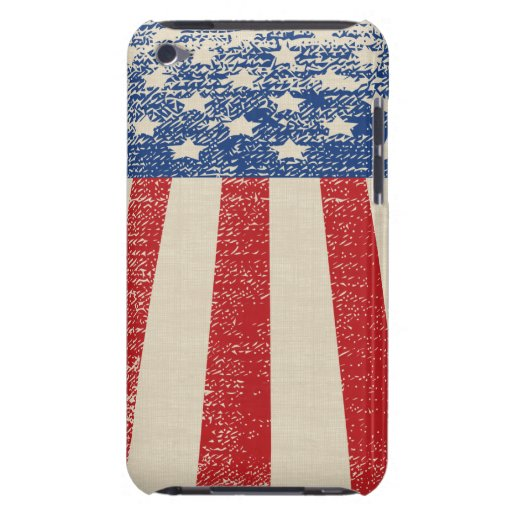 Bandera americana apenada patriótica iPod touch Case-Mate coberturas