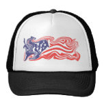 Bandera americana apenada - personalizable gorra