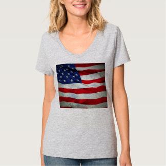 Bandera americana apenada polera