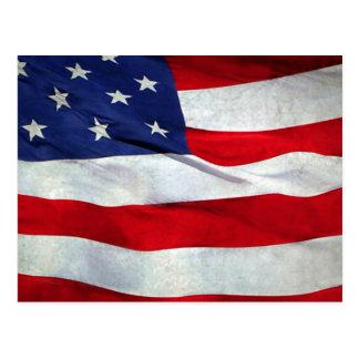 Bandera americana apenada postal