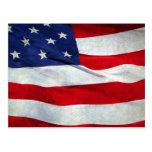 Bandera americana apenada tarjetas postales