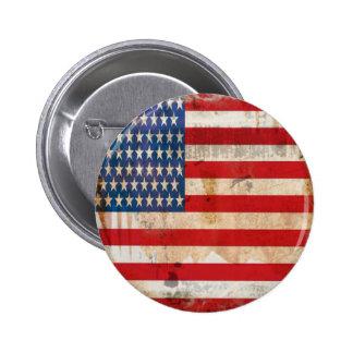 bandera americana apenada vintage moderno del grun