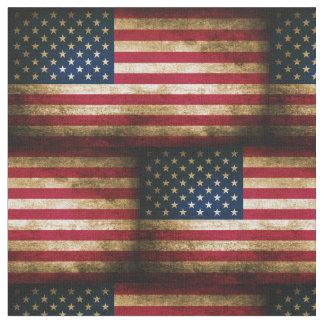 Bandera americana apenada vintage telas