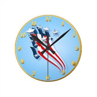 Bandera americana arrebatadora Wallclock Relojes De Pared