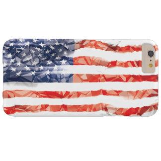 Bandera americana arrugada vieja funda de iPhone 6 plus barely there