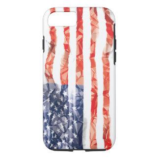 Bandera americana arrugada vieja funda iPhone 7