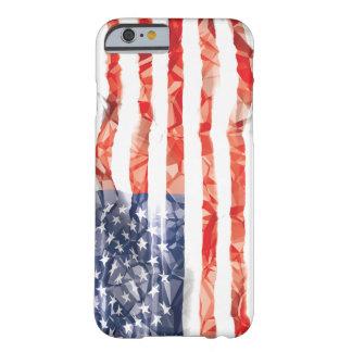 Bandera americana arrugada vieja funda para iPhone 6 barely there