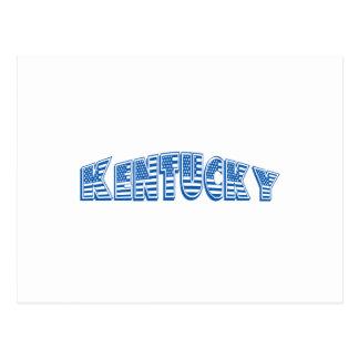 Bandera americana azul Kentucky Tarjetas Postales