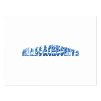 Bandera americana azul Massachusetts Postal