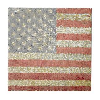 Bandera americana azulejo cuadrado pequeño
