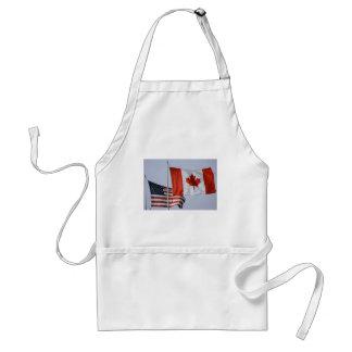 BANDERA AMERICANA/BANDERA CANADIENSE DELANTALES