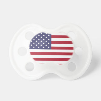 Bandera americana blanca y azul roja chupetes de bebe