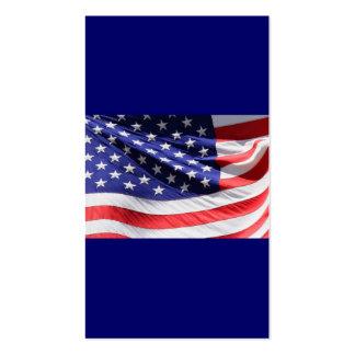 Bandera americana blanca y azul roja patriótica de tarjeta de visita