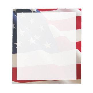 Bandera americana blocs de papel
