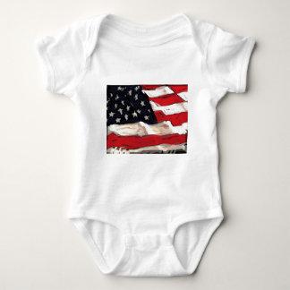 Bandera americana body para bebé