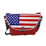 Bandera americana bolsa de mensajería