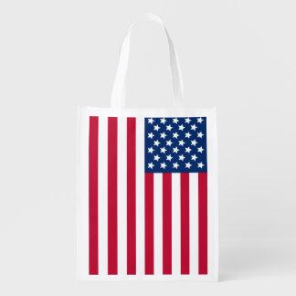 Bandera americana bolsas de la compra