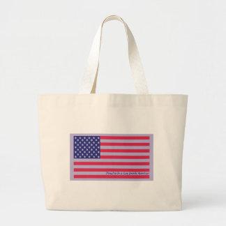 Bandera americana bolsa tela grande