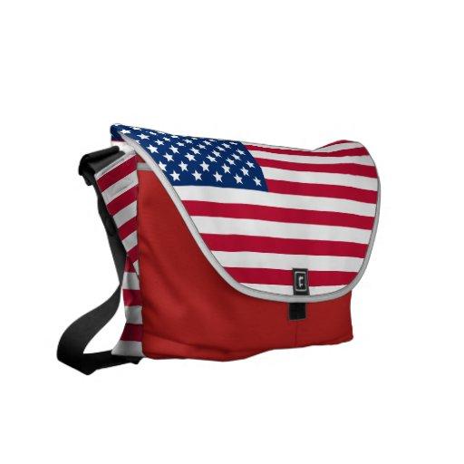 Bandera americana bolsa messenger