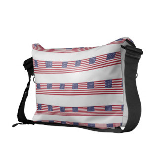 Bandera americana bolsa de mensajeria