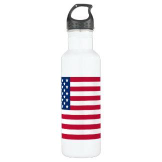 Bandera americana botella de agua