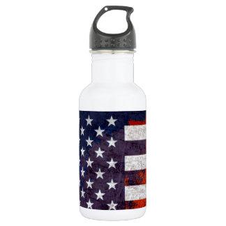 Bandera americana botella de agua de acero inoxidable