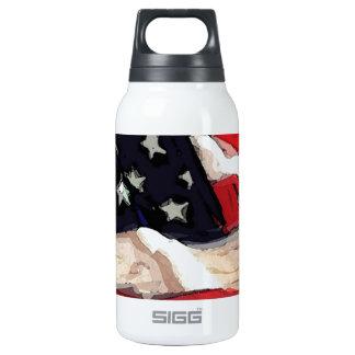 Bandera americana botella isotérmica de agua