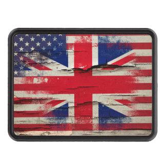 Bandera americana británica de la pintura el | del tapas de tráiler