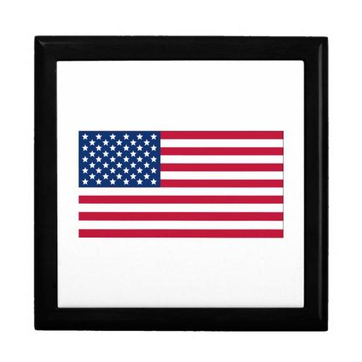 Bandera americana cajas de joyas