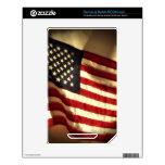 Bandera americana calcomanías para NOOK color