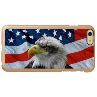 Bandera americana calva de Eagle