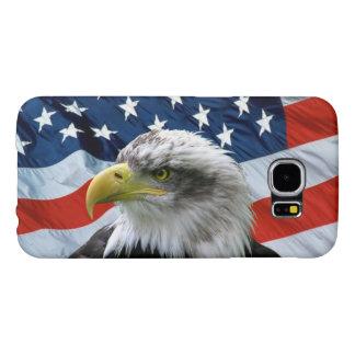 Bandera americana calva de Eagle Fundas Samsung Galaxy S6