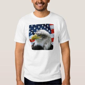 Bandera americana calva de Eagle Remera