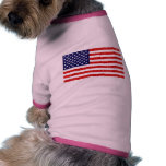 Bandera americana camisa de perro