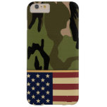 Bandera americana Camo Funda De iPhone 6 Plus Barely There