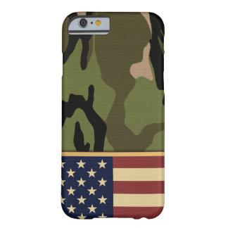Bandera americana Camo Funda Barely There iPhone 6