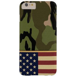 Bandera americana Camo Funda Barely There iPhone 6 Plus