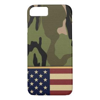 Bandera americana Camo Funda iPhone 7