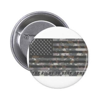 Bandera americana camuflada con las cabezas de los pins