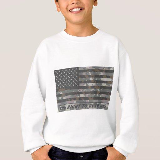 Bandera americana camuflada con las cabezas de los sudadera