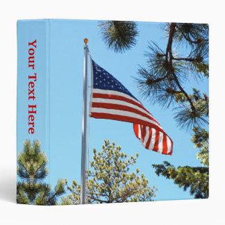 Bandera americana carpeta de 1,5 pulgadas