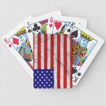 Bandera americana cartas de juego